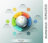 modern infographic design... | Shutterstock .eps vector #519012523