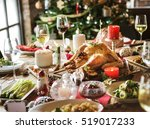 family together christmas... | Shutterstock . vector #519017233