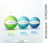 modern infographic design... | Shutterstock .eps vector #519022483