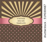 vintage design template with... | Shutterstock .eps vector #519030487