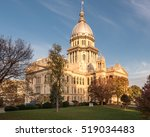 illinois state capitol in... | Shutterstock . vector #519034483