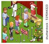 santa claus complaints desk ... | Shutterstock .eps vector #519044323