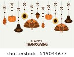 happy thanksgiving greeting... | Shutterstock .eps vector #519044677