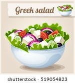 detailed icon. greek salad.... | Shutterstock . vector #519054823