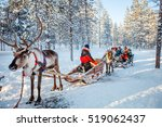 Family With Kids At Reindeer...