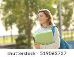 happy beautiful student girl...   Shutterstock . vector #519063727