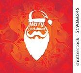santa claus with beard vector...   Shutterstock .eps vector #519066343
