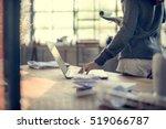 woman working laptop technology ...   Shutterstock . vector #519066787