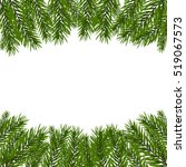 green  realistic fir branches.... | Shutterstock .eps vector #519067573