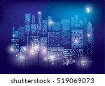 city lights. vector... | Shutterstock .eps vector #519069073