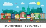city street with urban... | Shutterstock .eps vector #519075577