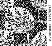 seamless pattern  vector hand... | Shutterstock .eps vector #519078967