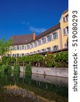 Small photo of Little Venice quarter and River Auch in Colmar, Haut Rhin in Alsace, of France.