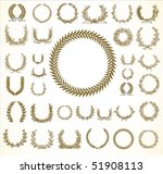set of detailed vector victory... | Shutterstock .eps vector #51908113