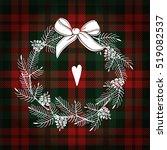 christmas greeting card ... | Shutterstock .eps vector #519082537