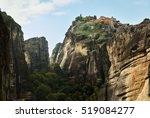 meteora   monastery  | Shutterstock . vector #519084277