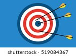 target with 3 arrows. dart... | Shutterstock .eps vector #519084367