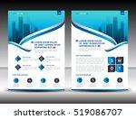 business brochure flyer... | Shutterstock .eps vector #519086707