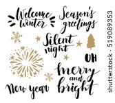 christmas and new year... | Shutterstock .eps vector #519089353