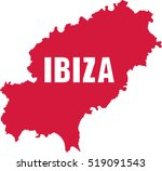 ibiza map with name | Shutterstock .eps vector #519091543