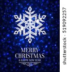 elegant christmas card with... | Shutterstock .eps vector #519092257