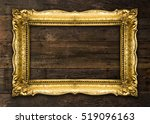 Old Picture Frame On Wooden...