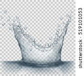 translucent water splash in... | Shutterstock .eps vector #519101053