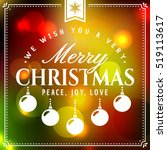 merry christmas  greeting card... | Shutterstock .eps vector #519113617
