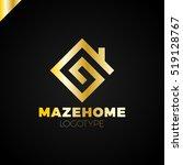 abstract house logo design... | Shutterstock .eps vector #519128767