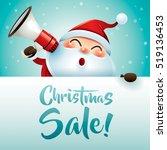 christmas sale  santa claus... | Shutterstock .eps vector #519136453