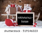 sleigh with gifts  snow ... | Shutterstock . vector #519146323