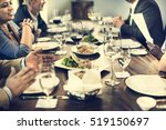 business people dining together ... | Shutterstock . vector #519150697