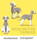 Dog Bedlington Terrier Cartoon...