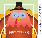 happy thanksgiving or give... | Shutterstock .eps vector #519162193