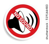 no sound sign on white... | Shutterstock . vector #519166483