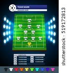 information soccer board and... | Shutterstock .eps vector #519172813