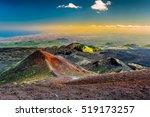 landscape of etna volcano ... | Shutterstock . vector #519173257