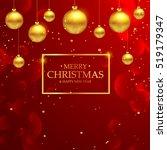 luxury elegant merry christmas... | Shutterstock .eps vector #519179347