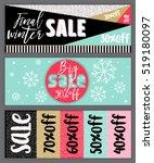 set of winter mobile sale... | Shutterstock .eps vector #519180097