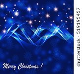 christmas blue background with... | Shutterstock .eps vector #519195457