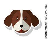 isolated dog pet design   Shutterstock .eps vector #519198703