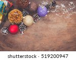 christmas background with... | Shutterstock . vector #519200947