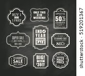 set of retail sale tags sign... | Shutterstock .eps vector #519201367