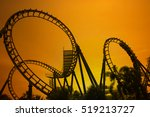 blurred roller coaster ride in...   Shutterstock . vector #519213727