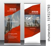 red roll up business brochure... | Shutterstock .eps vector #519217783