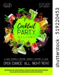cocktail party poster design.... | Shutterstock .eps vector #519220453