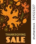 thanksgiving day sale...   Shutterstock .eps vector #519221227