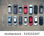 empty parking lots  aerial view. | Shutterstock . vector #519222247