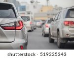 traffic jam with row of car on... | Shutterstock . vector #519225343