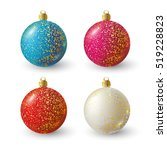 set of christmas balls for your ... | Shutterstock .eps vector #519228823